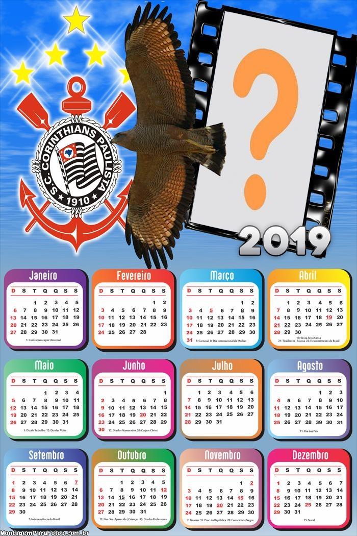 Calendário 2019 Mascote do Corinthians