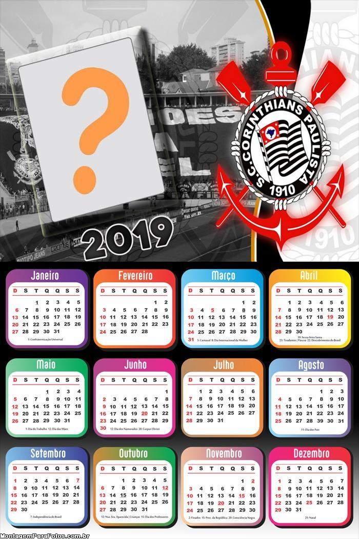 Calendário 2019 do Corinthians
