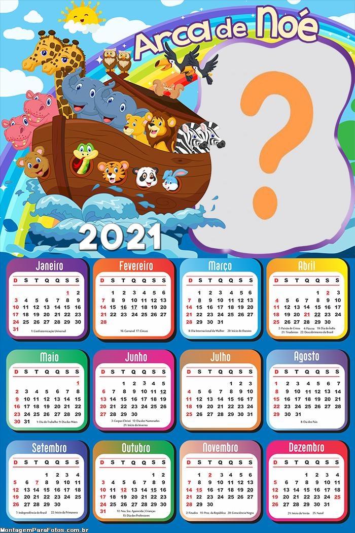Calendário 2021 Arca de Nóe