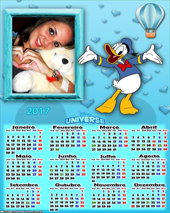 Calendário 2017 Pato Donald