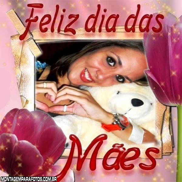 Dia Das Mães Rosa Moldura
