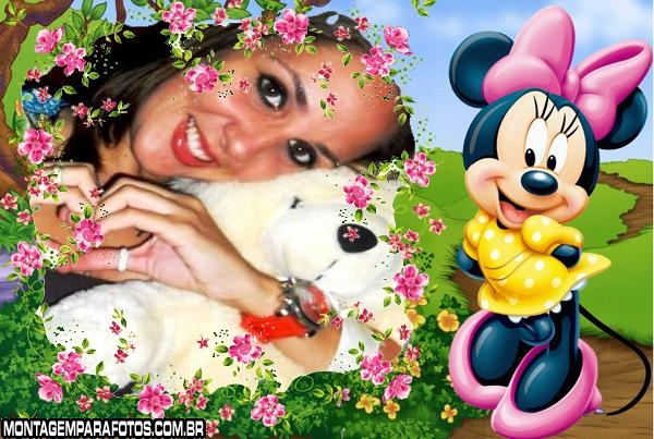 Flores Minie Disney Moldura