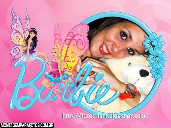 Barbie Borboletas Moldura