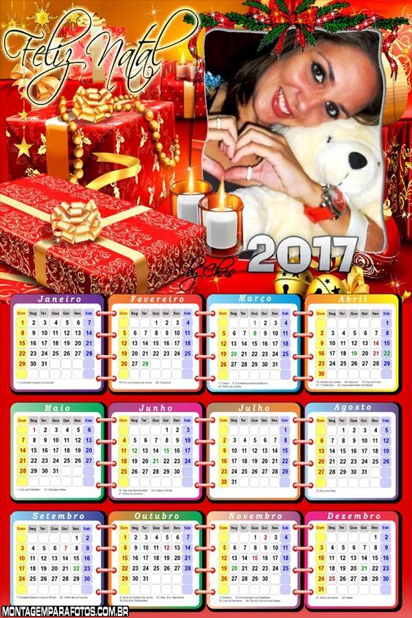 Calendário 2017 de Presente de Natal