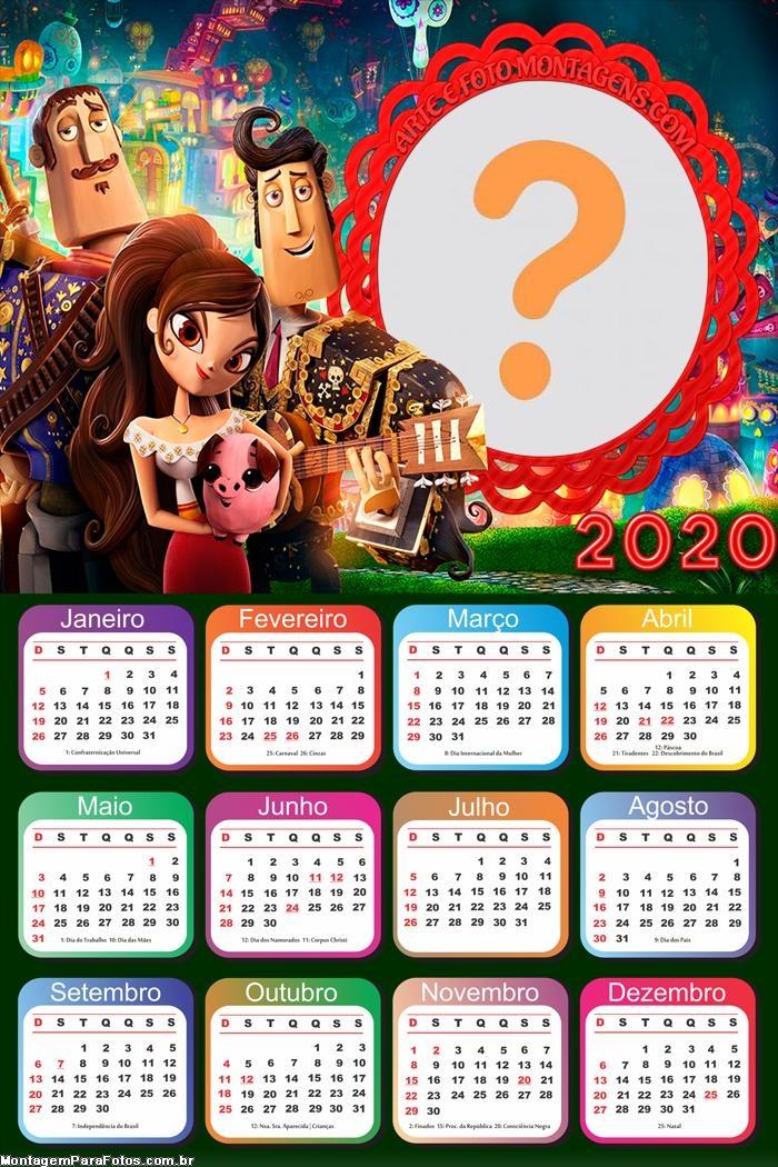 Calendário 2020 Festa no Céu