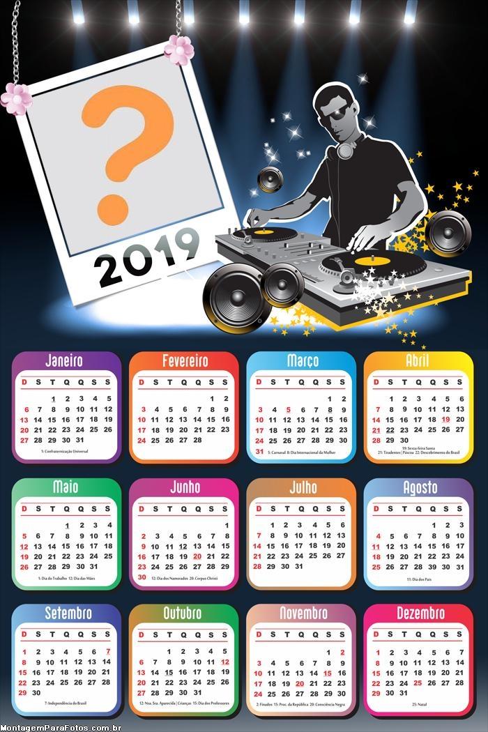 Calendário 2019 DJ Musical