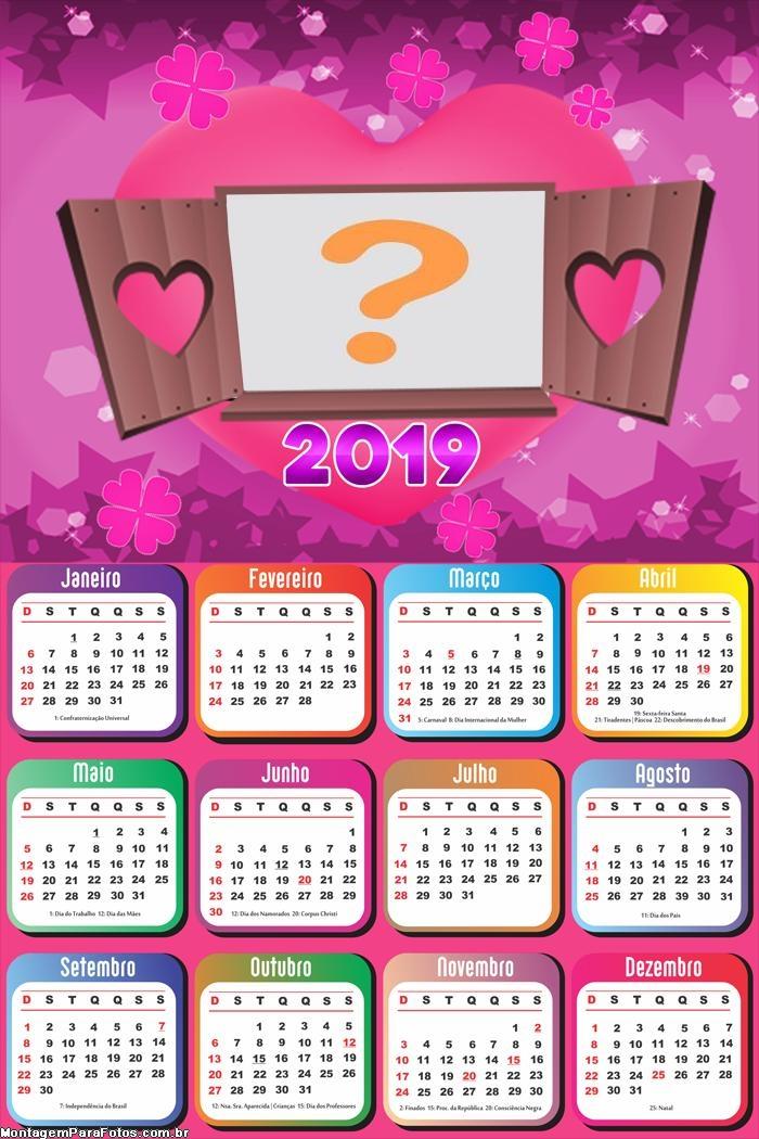 Calendário 2019 de Amor
