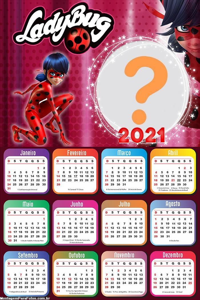 Editar Foto Colagem Calendário 2021 LadyBug