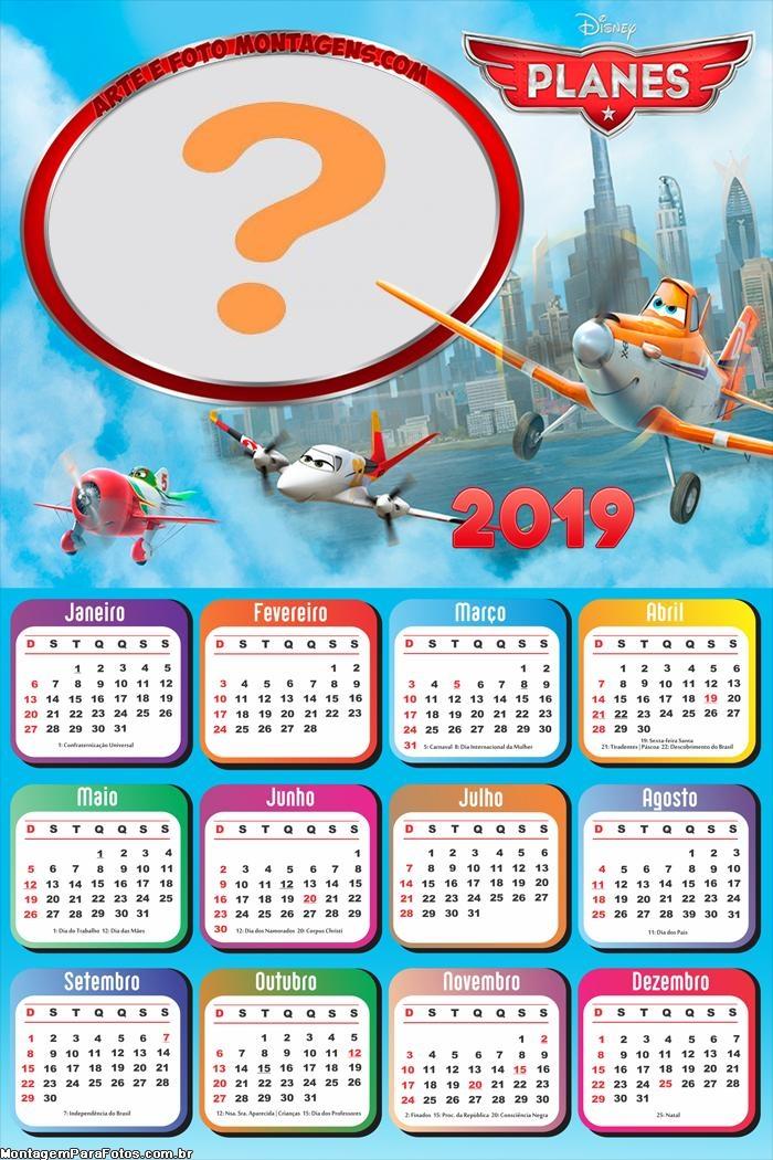 Calendário 2019 Aviões Filme