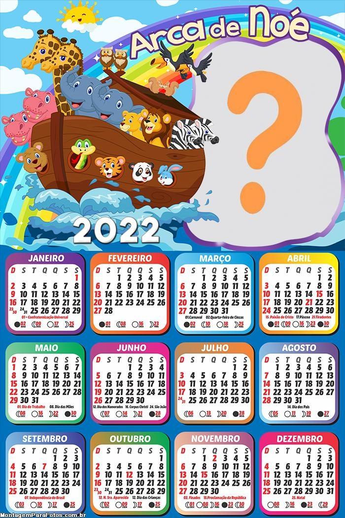 Calendário 2022 Arca de Nóe Montagem Online