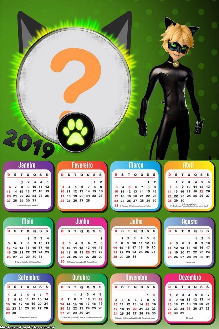Calendário 2019 Catnoir