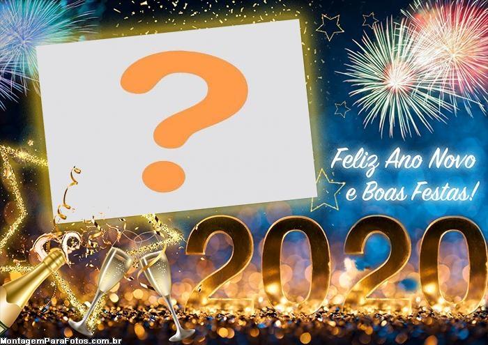 Colagem de Foto Feliz Ano Novo 2020