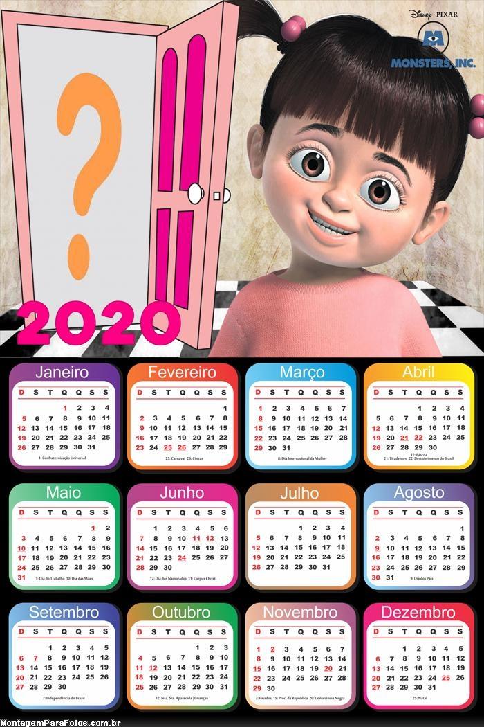 Calendário 2020 Buh Personagem Mostros S A
