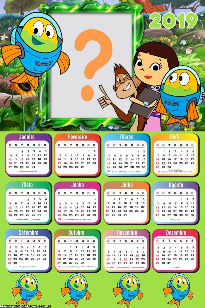 Calendário 2019 Peixonautas