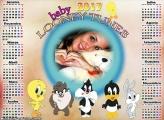 Calendário 2017 Looney Tunes Baby
