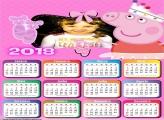 Calendário 2018 Peppa Pig Bailarina