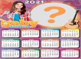 Calendário 2021 Gaby Estrella Montagem Online