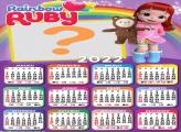 Calendário 2022 Rainbow Ruby Criar Online