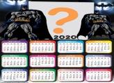 Moldura de Foto Calendário 2020 Desenho Batman
