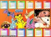 Calendário 2017 do Pokémon Picachu