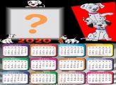 Calendário 2020 dos 101 Dálmatas Moldura
