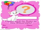 Convite Aniversário da Gata Marie