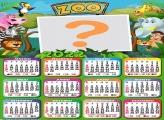 Calendário 2022 Zoológico Infantil Online Grátis