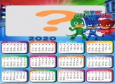Calendário 2020 do PJ Masks