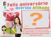 Montagem de Fotos de Aniversário para Afilhada