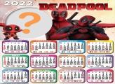 Calendário 2022 Deadpool Montagem de Fotos Grátis