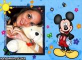 Mickey Com Borboletas e Flores