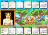 Calendário 2018 Horizontal Pooh