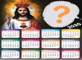 Calendário 2020 Jesus Foto Colagem