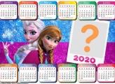 Calendário 2020 Horizontal Frozen