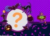Velha Bruxinha Moldura Halloween