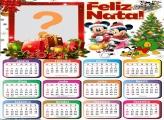 Fotomontagem Calendário 2021 Natal Mickey