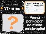 Convite 70 Anos Celebração