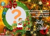 Frase de Feliz Natal ao Lado da Família Moldura