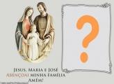 Jesus Maria e José Moldura