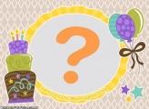 Moldura Bolo e Balão de Aniversário
