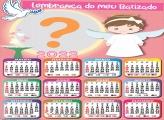 Foto Colagem Calendário 2022 Batizado de Meninas
