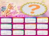 Calendário 2020 Barbie Foto Moldura Digital