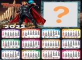 Calendário 2022 Thor para Meninos