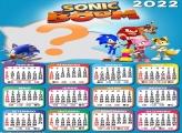 Montar Foto Online Calendário 2022 Sonic Boom
