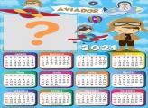 Calendário 2021 Aviador Infantil