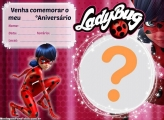 Convite Ladybug para Editar Online Grátis