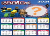 Calendário 2021 Roblox Molduras para Fotos Infantil
