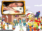 Moldura Simpsons no Natal