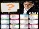 Calendário 2021 Padre Zezinho Moldura Grátis