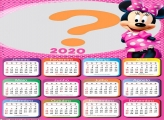 Calendário 2020 Minnie Cor de Rosa